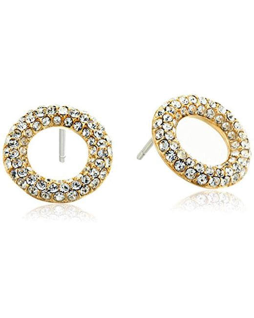 "Michael Kors - Metallic ""brilliance"" Stud Earrings - Lyst"