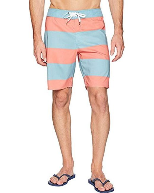 b9d5806862c70 Lyst - Brixton Barge Stripe Trunk in Blue for Men - Save 17%