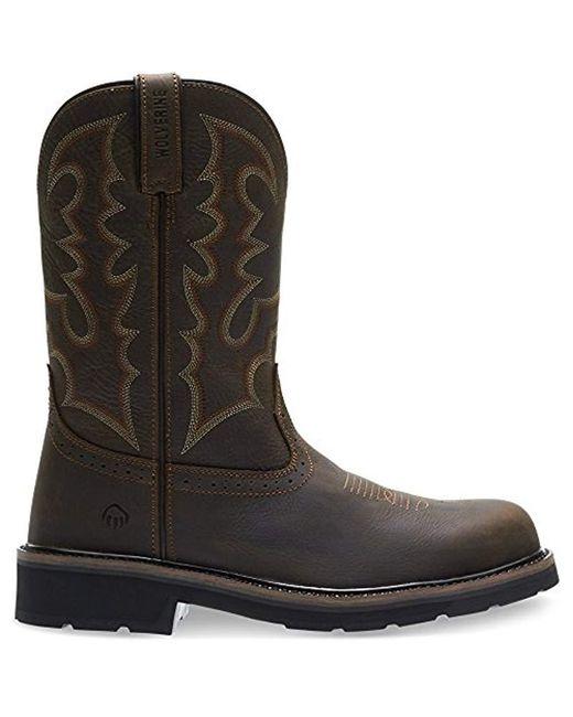 dac3fafc596 Men's Brown Rancher Steel Toe Western Boot