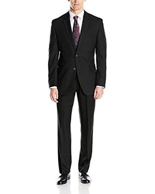 Perry Ellis - Black Slim Fit Suit W/ Hemmed Pant for Men - Lyst
