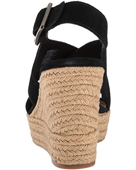 b9f6ed1c45 Lyst - UGG Harlow Espadrille Wedge Sandal in Black - Save ...