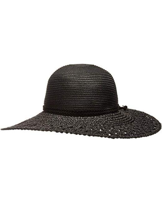 O'neill Sportswear - Black Brightside Floppy Straw Hat - Lyst