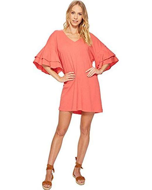Lucky Brand - Pink Ruffle Dress - Lyst