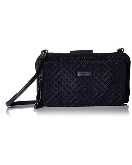 Vera Bradley - Blue Iconic Deluxe All Together Crossbody, Microfiber - Lyst