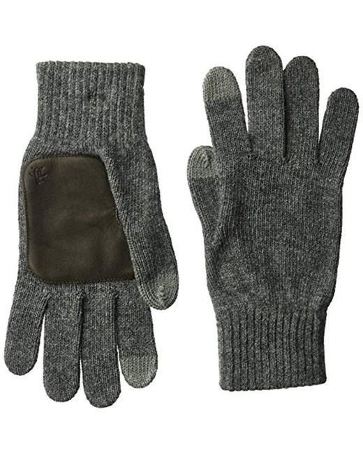 Original Penguin - Gray Knit Gloves for Men - Lyst