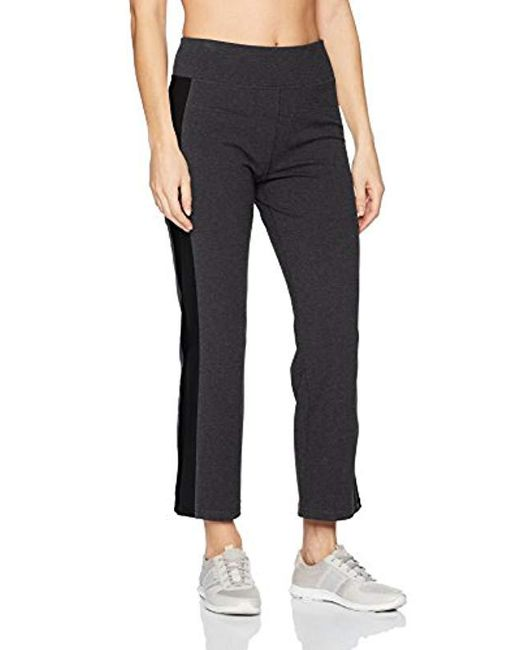 Calvin Klein - Gray Performance High Waist Side Stripe Crop Flare Pant - Lyst