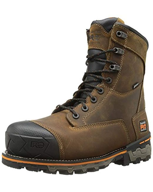 Timberland - Boondock 8 Comp Toe Wp (brown) Men's Work Boots for Men - Lyst