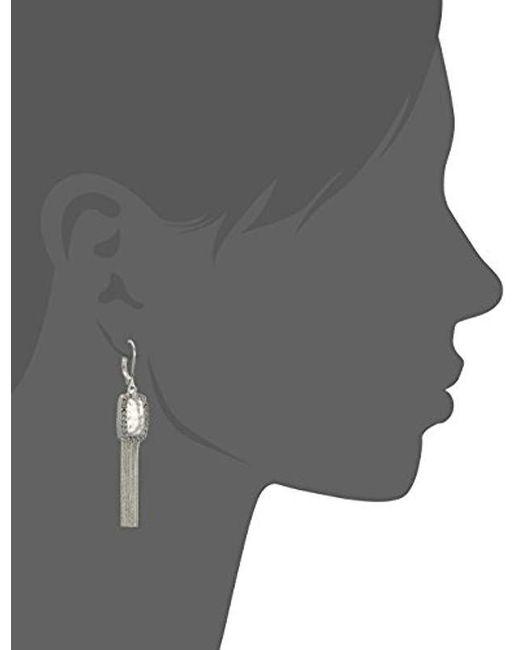 Nine West - Metallic Silver-tone And Crystal Tassel Drop Earrings - Lyst