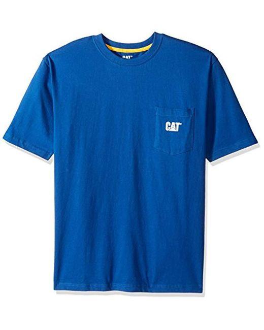 72417096b9e Caterpillar - Blue Logo Pocket T-shirt for Men - Lyst ...