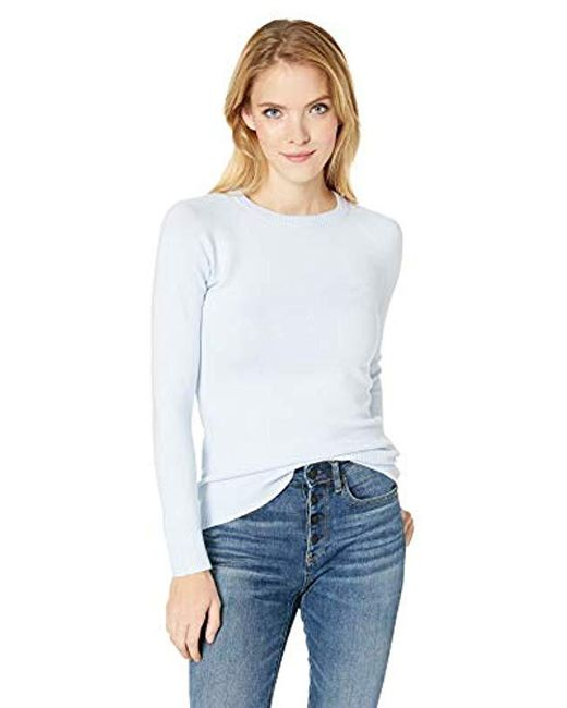 French Connection Blue Babysoft Long Sleeve Soft Solid Pullover Sweater