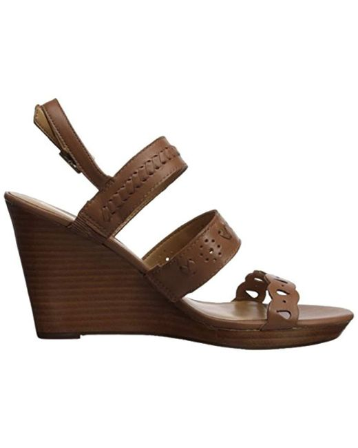 2bf809ee42ad Lyst - Jack Rogers Arden Wedge Sandal in Brown - Save 76.19047619047619%