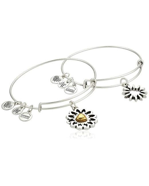 ALEX AND ANI - Metallic S You Are My Heart Two-tone Bracelet Set Of 2 - Lyst