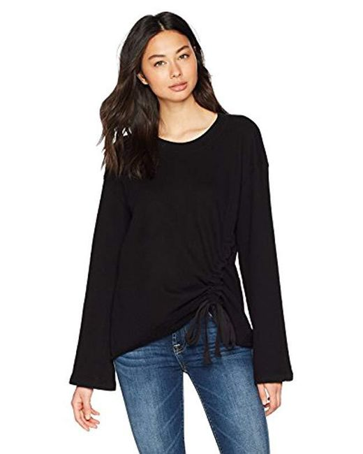 Stateside - Black Front Casing Bell Sleeve Pullover - Lyst