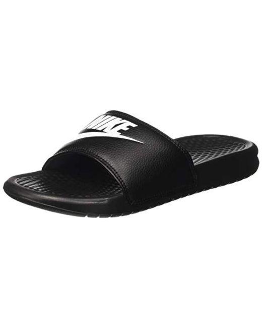 3d8cd46d74c02 Lyst - Nike Benassi Just Do It Athletic Sandal in Black for Men ...