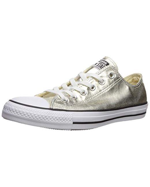 af7cdc2769f4 Converse - Metallic Chuck Taylor All Star Oxford Fashion Sneaker - Lyst ...