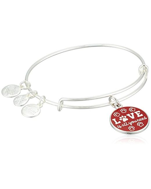 ALEX AND ANI - Metallic Words Are Powerful, Love Is All You Need Ewb Bangle Bracelet - Lyst