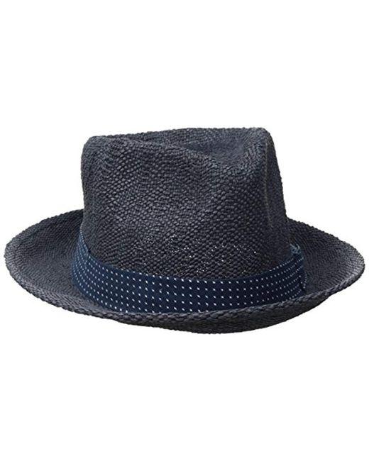 717523571a7 Lyst - Original Penguin Wide Brim Straw Fedora in Blue for Men - Save 2%