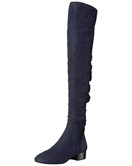 acb39f4ffe6 Lyst - Nine West Ooohaah Wool Over The Over The Knee Boot in Blue ...