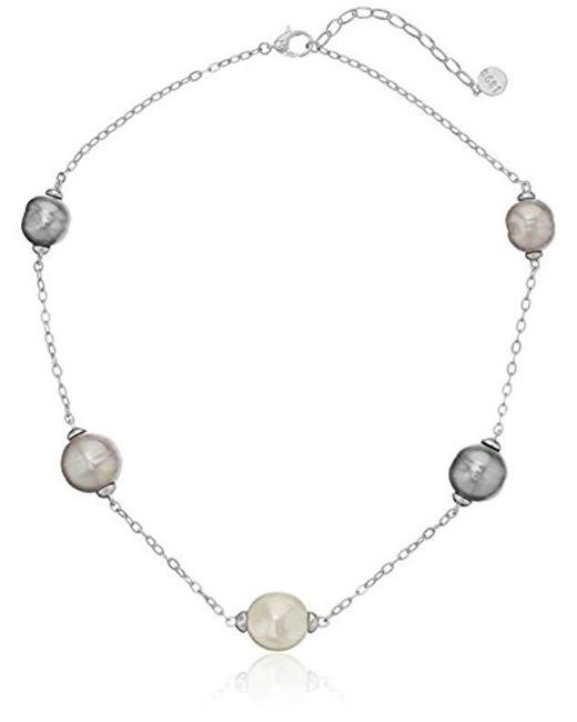 Majorica - Multicolor S Baroque And Coin Pearl Illusion Necklace - Lyst