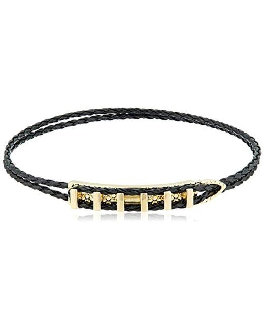 """Noir Jewelry - Black Strike Choker Necklace, 10"""" - Lyst"""
