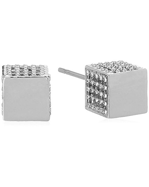 Eddie Borgo - Metallic Pave Cube Stud Earrings - Lyst