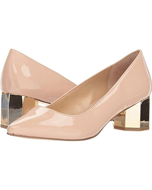 Katy Perry - Natural The Lorenna-smooth Patent Pump - Lyst