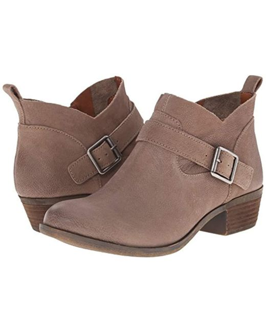 b23eacff161c ... Lucky Brand - Brown Lucky Boomer Ankle Bootie - Lyst ...