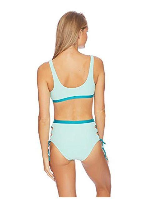 543215b873a44 Lyst - Splendid Sport Bra Swimsuit Bikini Top in Blue - Save 9%