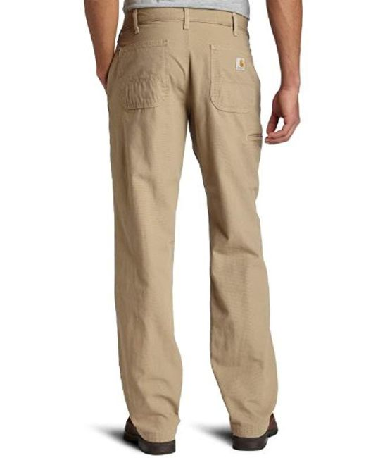 3bfb559f866 ... Carhartt - Natural Canvas Khaki Relaxed Fit Straight Leg Pant for Men -  Lyst