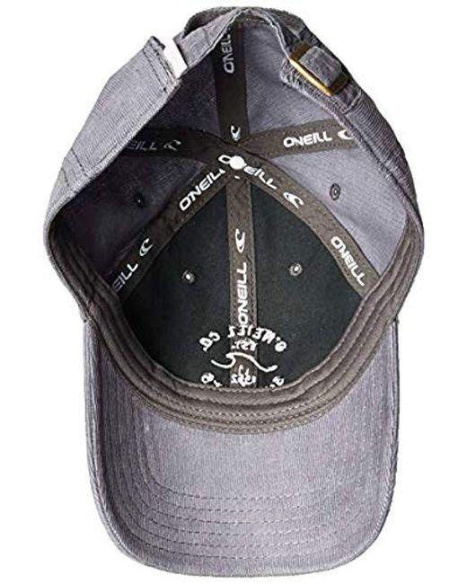 6a00786b7af2d ... O neill Sportswear - Gray Surf Chaser Corduroy Baseball Cap - Lyst