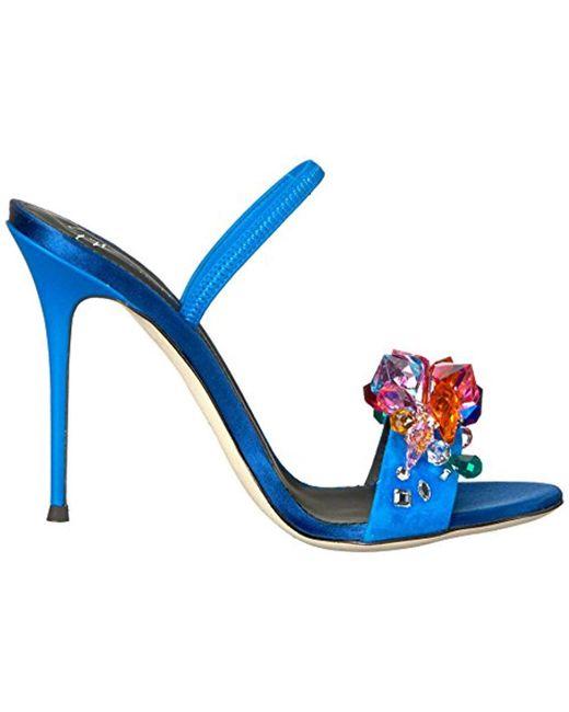 a0d929e9894d ... Giuseppe Zanotti - Blue E800075 Heeled Sandal - Lyst ...
