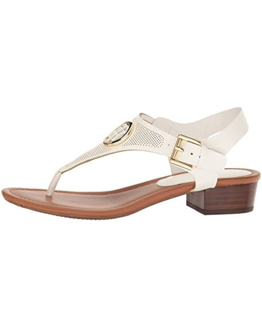 99ca98872864 Lyst - Tommy Hilfiger Kandess Heeled Sandal in White - Save 57%