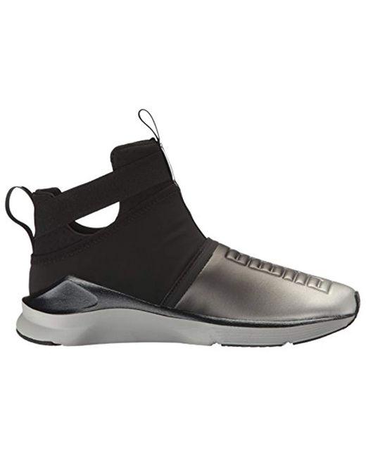 b43cf840e74fce ... Lyst PUMA - Black Fierce Strap Metallic Wn s Cross-trainer Shoe ...