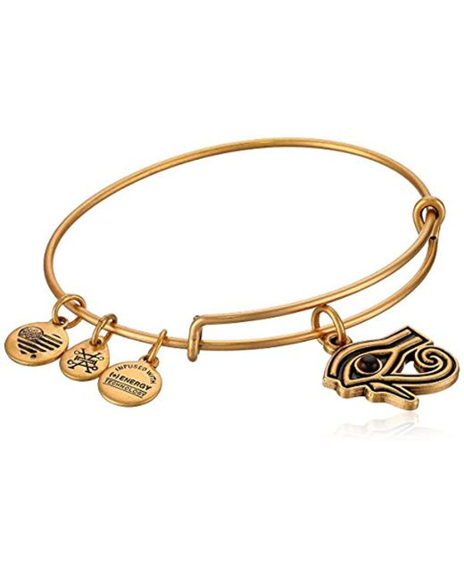 ALEX AND ANI - Metallic S Eye Of Horus Ewb Bangle Bracelet, Expandable - Lyst