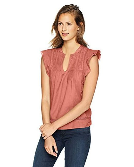 abcf8cf6e0bfed Lucky Brand - Multicolor Solid Pintuck Top - Lyst ...