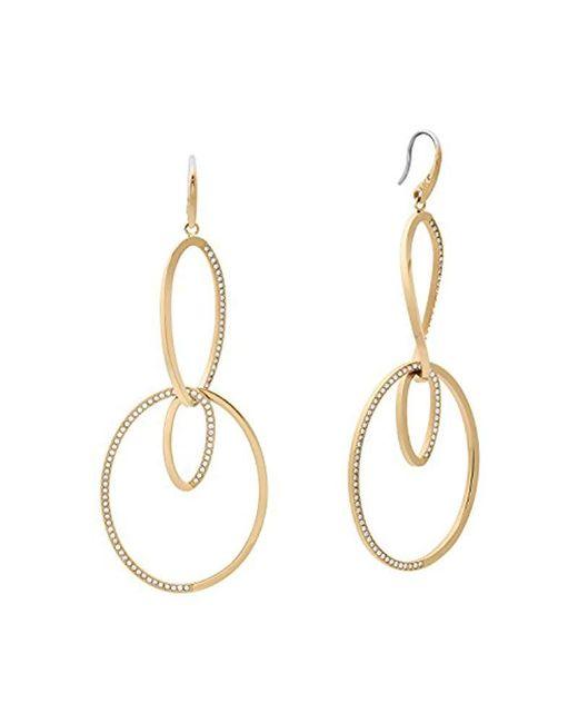 Michael Kors - Metallic S Brilliance Gold-tone Drop Earrings, One Size - Lyst