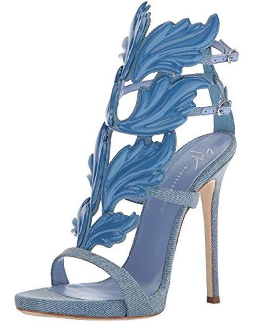492e7af31544 Lyst - Giuseppe Zanotti E800189 Heeled Sandal in Blue - Save 52%