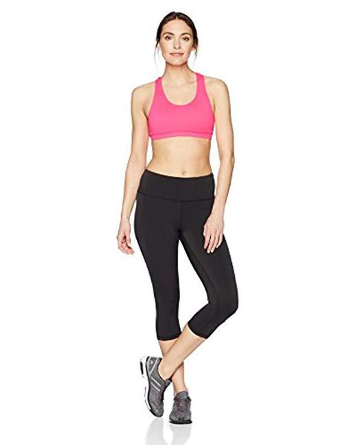 522c2f9f1 ... Amazon Essentials - Pink 2-pack Light Support Seamless Sports Bras -  Lyst ...