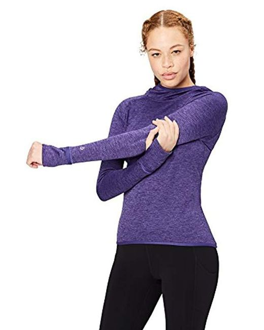 9a9a189c53119 Core 10 - Purple Be Warm Thermal Fitted Run Hoodie (xs-xl