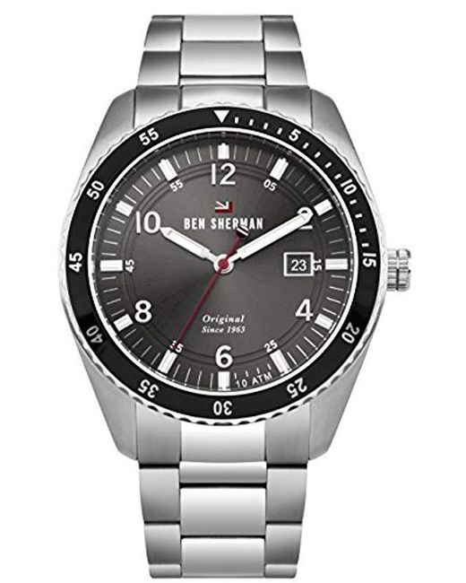 Ben Sherman - Metallic 'the Ronnie Sports' Quartz Stainless Steel Casual Watch, Color:silver-toned (model: Wbs107bsm) for Men - Lyst