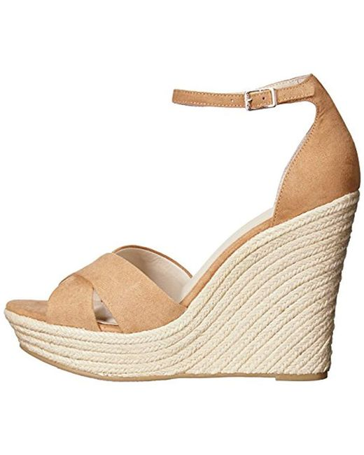 e8884fe4471b35 Lyst - Chinese Laundry Morgan Wedge Sandal in Natural - Save 30%