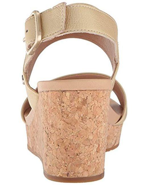 b77257b4f8c7 Lyst - UGG Australia Elena Metallic Ii Wedge Sandal in Metallic ...