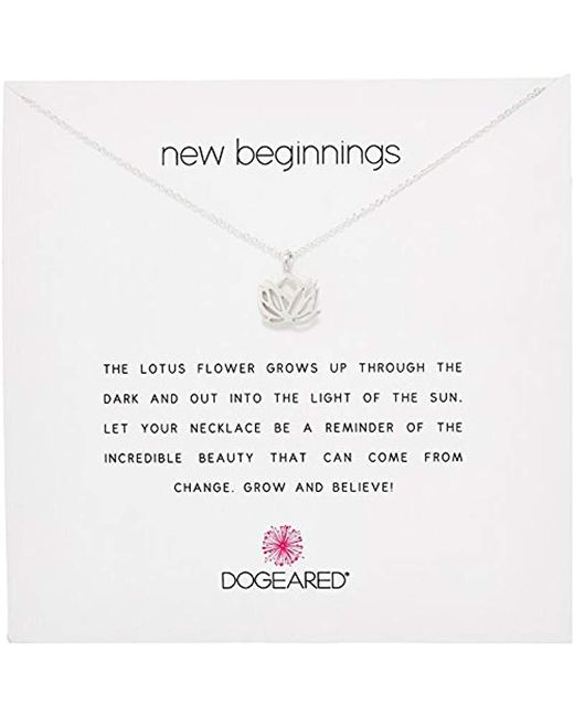 Dogeared - Metallic Reminders New Beginnings Rising Lotus Pendant Necklace - Lyst