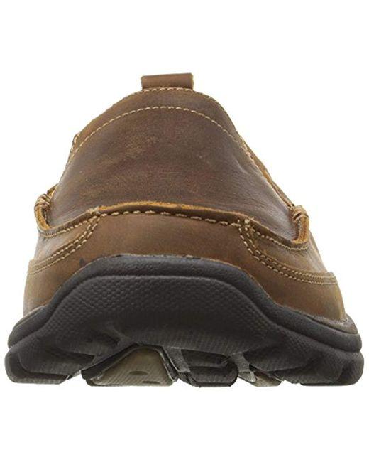 edb7f1302c81e1 ... Skechers - Brown Relaxed Fit Memory Foam Superior Gains Slip-on for Men  - Lyst ...