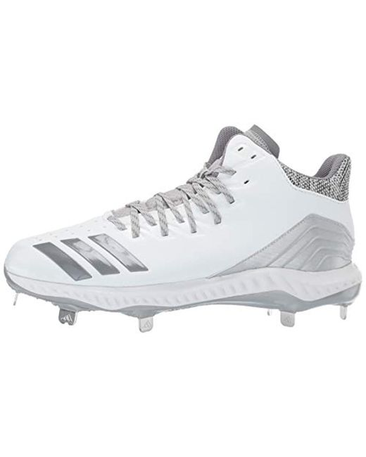free shipping 339a4 22e15 ... Adidas - Gray Icon Bounce Mid Cleat Baseball White for Men - Lyst ...