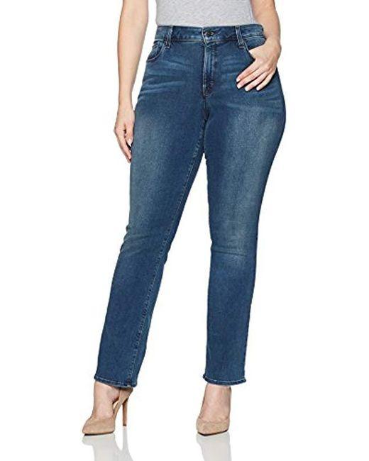NYDJ - Blue Rachel Rolled Cuff Ankle Jeans In Denim Marrakesh Wash - Lyst