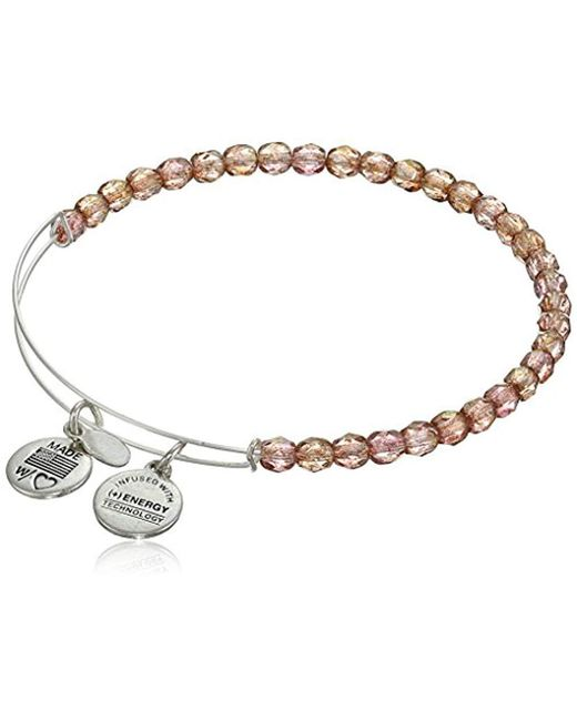 "ALEX AND ANI - Metallic ""bangle Bar Color Palette"" Blush Rock Candy Shiny-silver Tone Expandable Bracelet - Lyst"