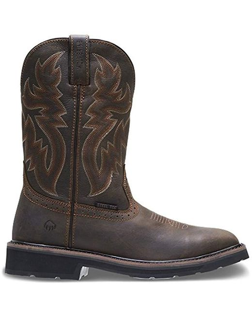 ba8a8fd786a9 Wolverine - Brown Rancher Square-toe Steel-toe Wellington - for Men - Lyst  ...