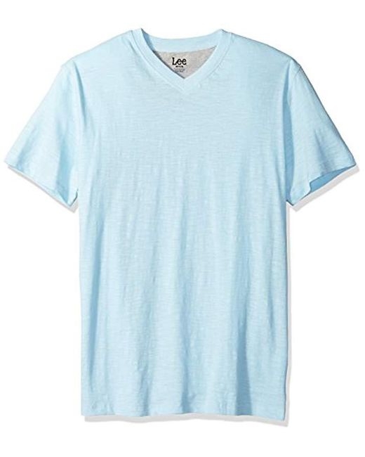 Lee Jeans - Blue Short Sve Vneck Tee for Men - Lyst