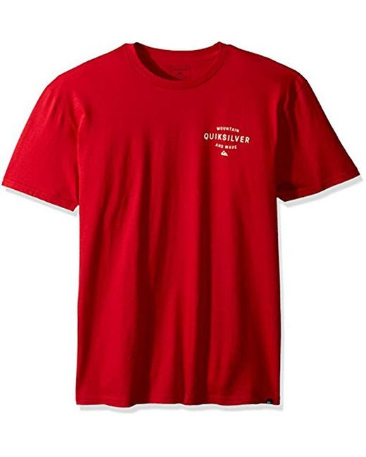 Quiksilver - Red Oside Vibes T-shirt for Men - Lyst